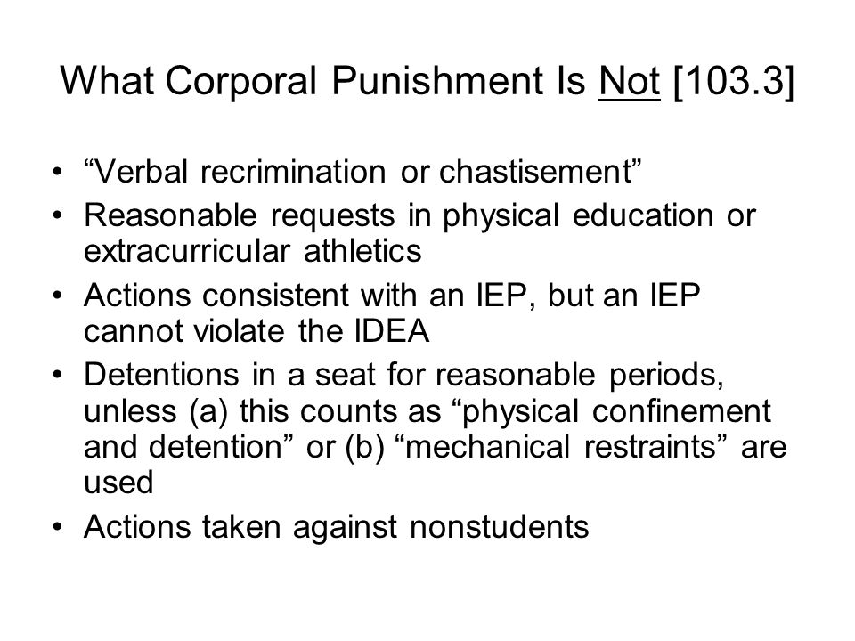 What Corporal Punishment Is Not [103.3]